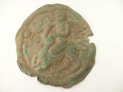 A MEDIEVAL BRONZE PLATE    St. George