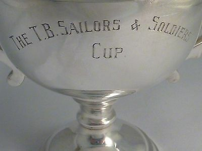 Australian sterling silver trophy - The T.B Sailors & Soldiers Cup - 1939