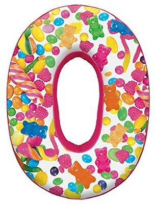 iscream Microbead Fleece-Backed Letter O Initial Pillow