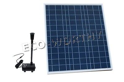 40W Poly Solar Panel + Fountain Water Pump for Pool Garden Pond Watering Plant