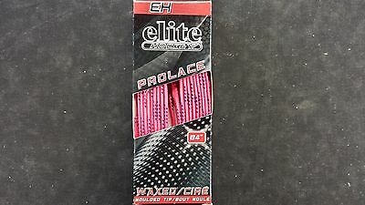ELITE Waxed Hockey Skate Laces New Pink Size 84""