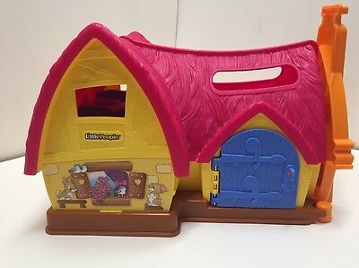 Snow White Princess Cottage Play Set Little People with Accessories Disney