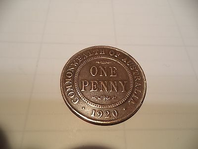 1920  KGV  PENNY  Fine  RARE VERY OLD COLLECTION GREAT INVESTMENT