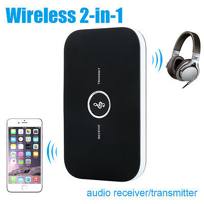 Wireless 2 in1 Bluetooth Stereo Audio Music Transmitter and Receiver 3.5mm AC363