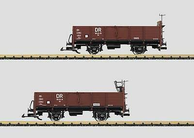 **NEW** LGB 41031 01 and 41031 02 DR freight cars 99-03-25 and 99-03-16 G scale