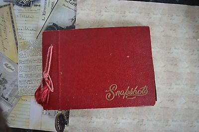 An Empty Vintage Snapshot Album With Red Covers - No Photo's Shabby Inside