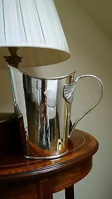 Vintage Silver Plate Art Nouveau Swans Neck Large Jug Ice Bucket By Silea France