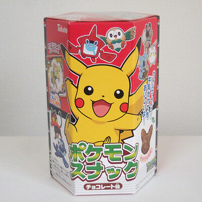 Pokemon Snack Chocolate Flavor Pocket Monster Sticker Japanese Candy Tohato New