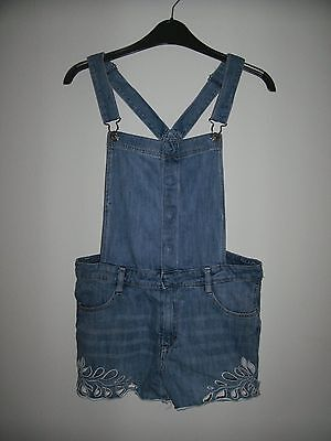 Girls  H & M Denim dungares Shorts very good condition Eur 164  age  14