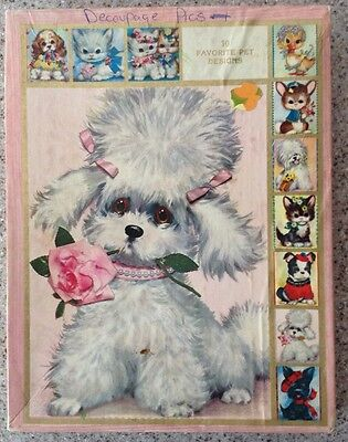 """Vintage 1950's-60's Box Coby's """"The Pet Set"""" Giant  Greeting Cards"""