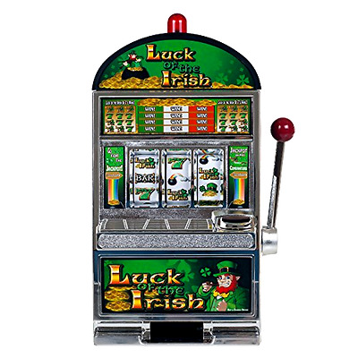 RecZone Luck of the Irish Slot Machine Bank Replica Coins Casino Game Room Gift