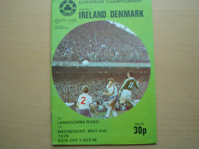 Republic Of Ireland V Denmark May 1979