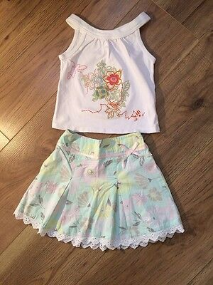 Girls Pretty Mothercare Floral Skirt 2-3 Years