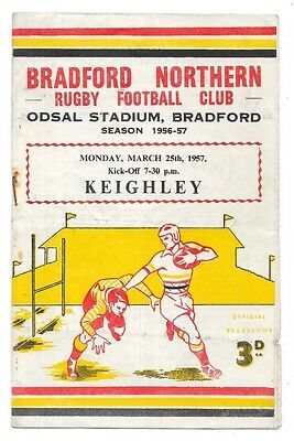 Bradford Northern v Keighley, 1956/57, Northern League Match Programme.