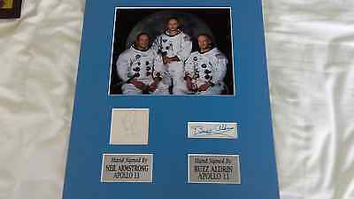 Apollo 11 Signed Display  Neil Armstrong Buzz Aldrin 1St Men On The Moon