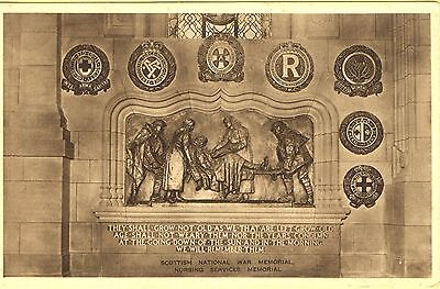 Vintage Postcard Scottish Nursing Service Memorial