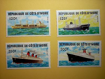 IVORY COAST 1984 TRANSPORT (b) SHIPS  SET 4  MNH SG816/9