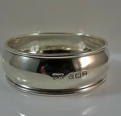Antique Sterling Silver Napkin Ring Birmingham 1912