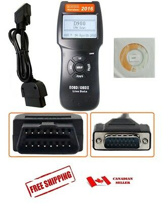 NEW OBD2 EOBD Car Scanner Diagnostic Live Data Code Reader Check Engine D900