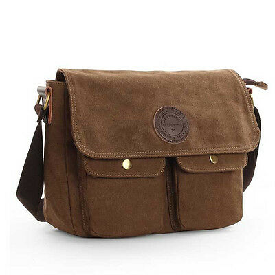 Men's Canvas Messenger Shoulder Crossbody Bag Book Bags School Satchel Vintage