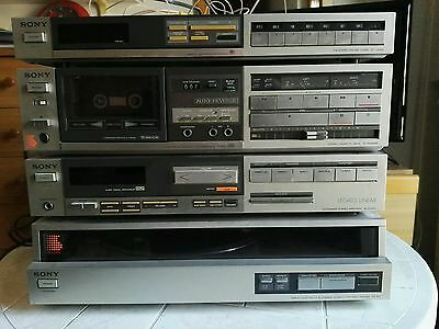 Stereo Sony vintage anni '80 completo di casse sony