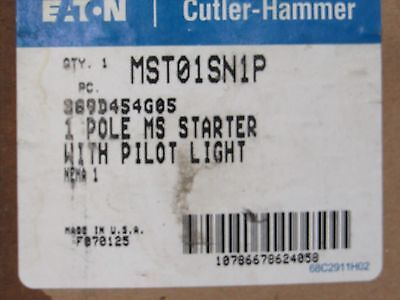 Eaton MST01SN1P MS Series Toggle Operated Manual Motor Starter with pilot