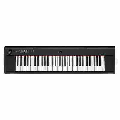 Yamaha NP-12B Piaggero Slim Home Keyboard - Black