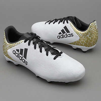 Adidas X 16.3 FG Soccer Cleats Boys European Football Shoes White Black NEW