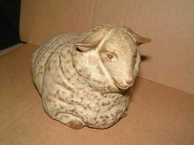 Unusual And Lovely Grey / Beige Studio Pottery Sheep - Bennetts?