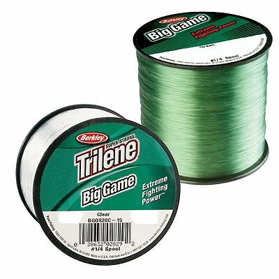 BERKLEY TRILENE BIG GAME MONO FISHING LINE 4oz Spool Clear/Green - SALE!