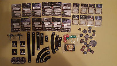 Star Wars X-Wing Core Set: 2 x T-70 + maneuvers + tokens + dices + various