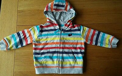 Boys striped hooded top 6-9 months F&F