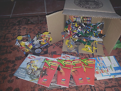K'nex Battlers box of pieces and instruction booklets