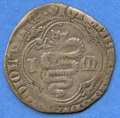 Italy Milan Giovanni Maria 1402-1412 Grosso Coin (Serpent / St. Ambrose)