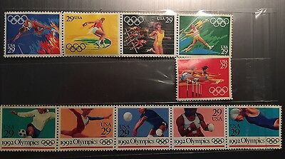 1991 USA Olympic Stamps
