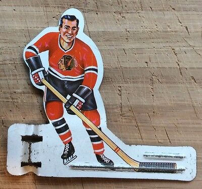 Vintage  Coleco Toys Metal Table Hockey Player-1960's- Chicago Black Hawks