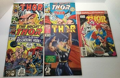 Lot Of 5 Marvel THE MIGHTY THOR Comics 1991-1993