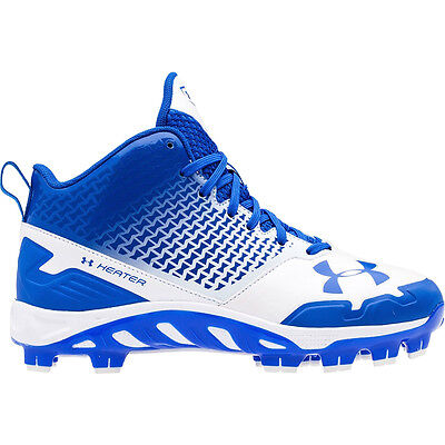 New Under Armour UA Spine Heater Mid TPU Mens Baseball Cleats Plastic : Blue