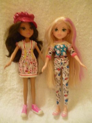 Moxie Dolls X 2  With Replacement Stand + Brush