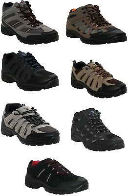 Mens Lace Up Hiking Walking Comfort Trainers Trek & Trail Work Ankle Boots Shoes