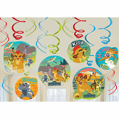 Disney Lion Guard Charge Birthday Party Swirl Decorations, pack of 12