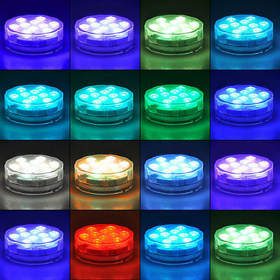 Waterproof  Party Lights IR Remote Controlled RGB Submersible LED Lights Outdoor