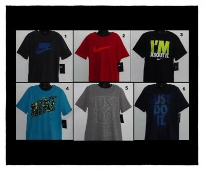Nike Boy's T-Shirts Small 7-8 Medium 10-12 Large 14-16 Xl 18-20 Nwt