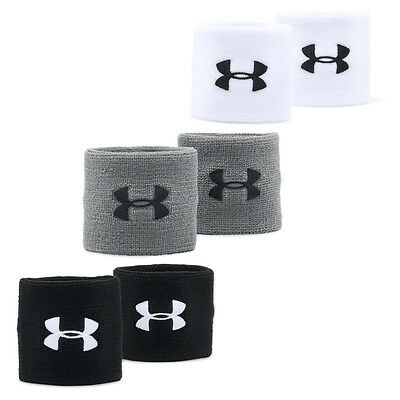 """Under Armour 3"""" Performance Sports Wristbands Wrist Band (Pair)"""