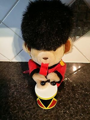 Hamleys drummer bear and Whistle - in bandsman uniform- all working