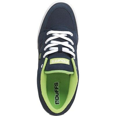 Duffs Mens Slice Skate Shoes Ink/Lime size 8 Trainers