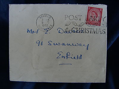 1952 2½d Wilding  First Day Cover Slogan Post Early for Christmas Postmark