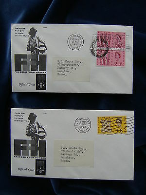 1963 Freedom From Hunger Illustrated First Day Covers Ordinary