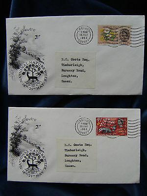 1963 Nature Illustrated First Day Covers Ordinary