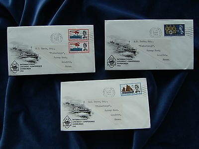 1963 QEII Lifeboat Illustrated First Day Covers Ordinary Frinton On Sea CDS